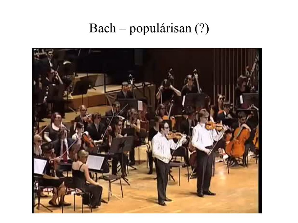 Bach – populárisan ( )