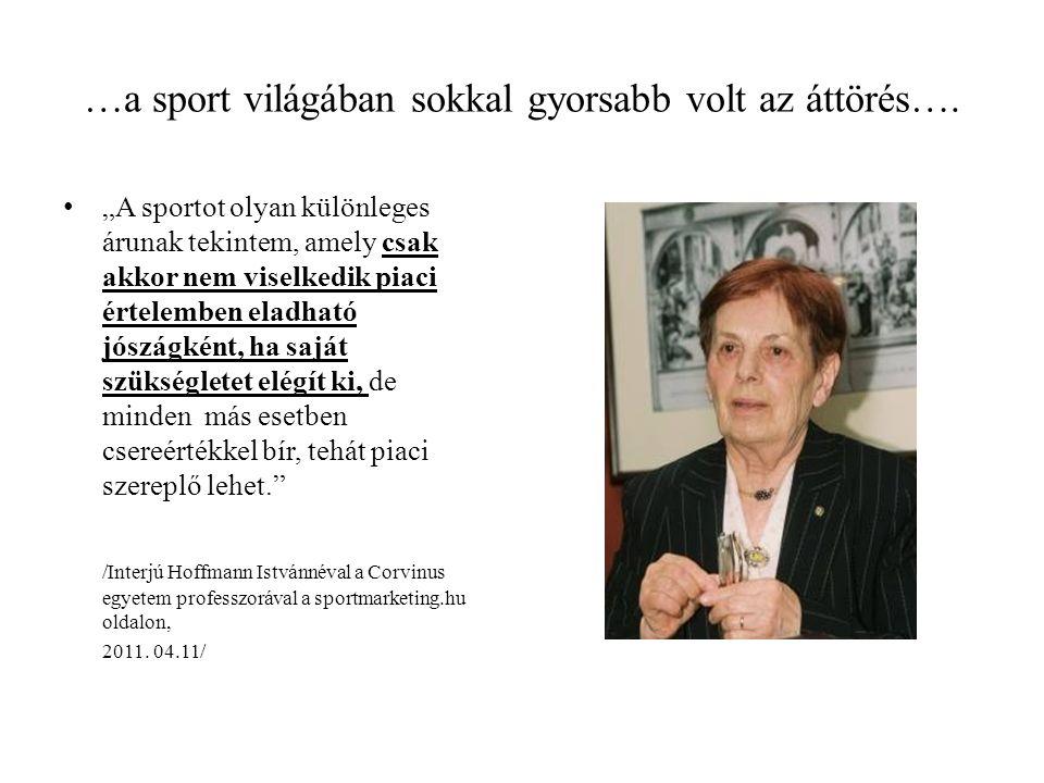 …a sport világában sokkal gyorsabb volt az áttörés….