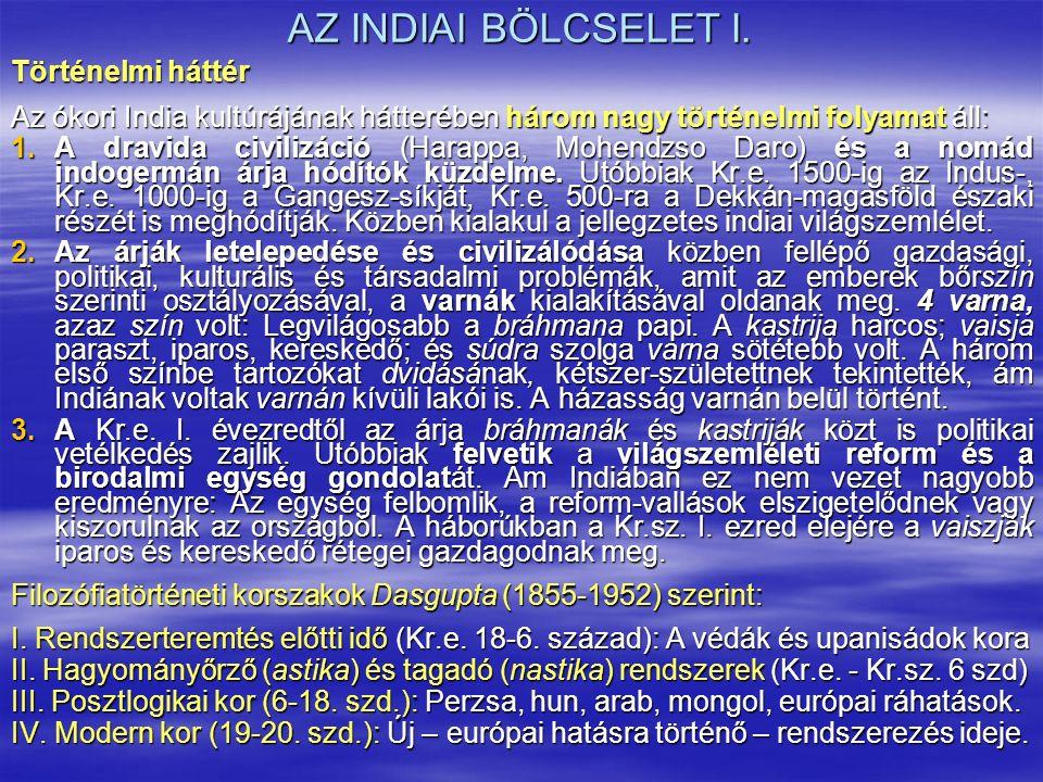 AZ INDIAI BÖLCSELET I.