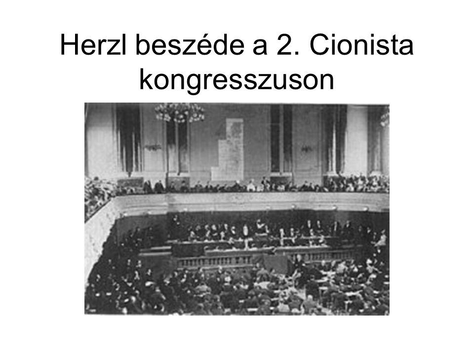 Herzl beszéde a 2. Cionista kongresszuson