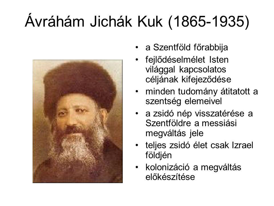 Ávráhám Jichák Kuk (1865-1935) a Szentföld főrabbija fejlődéselmélet Isten világgal kapcsolatos céljának kifejeződése minden tudomány átitatott a szen