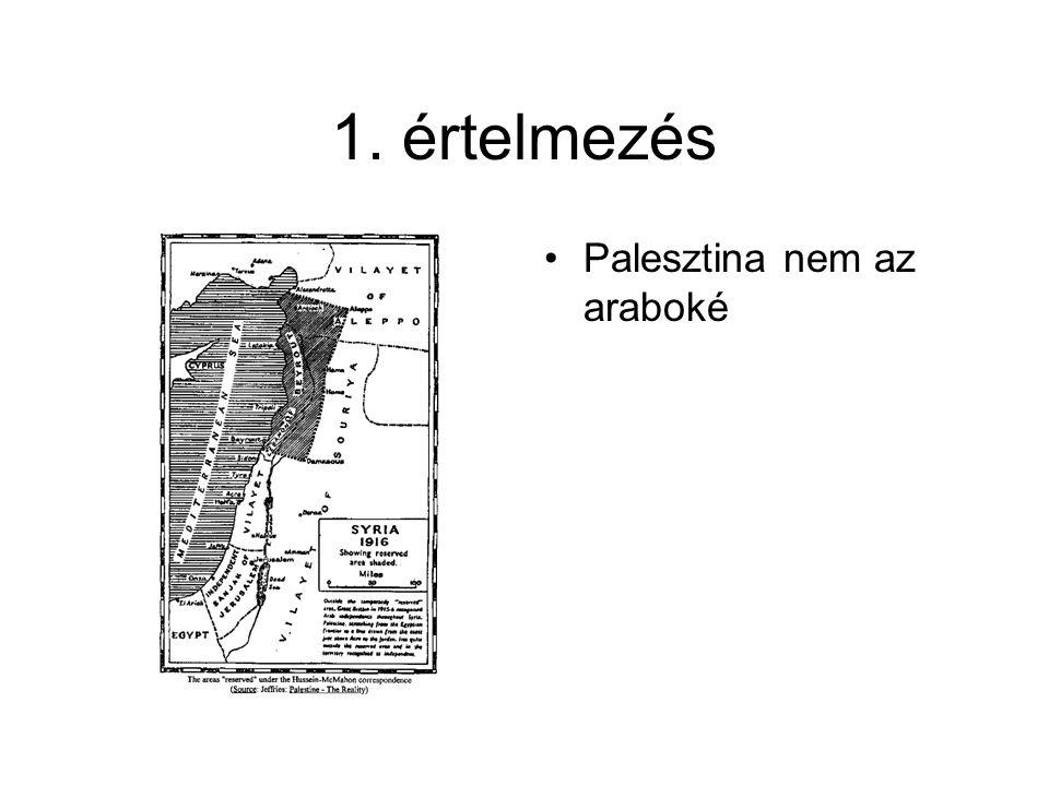 1. értelmezés Palesztina nem az araboké