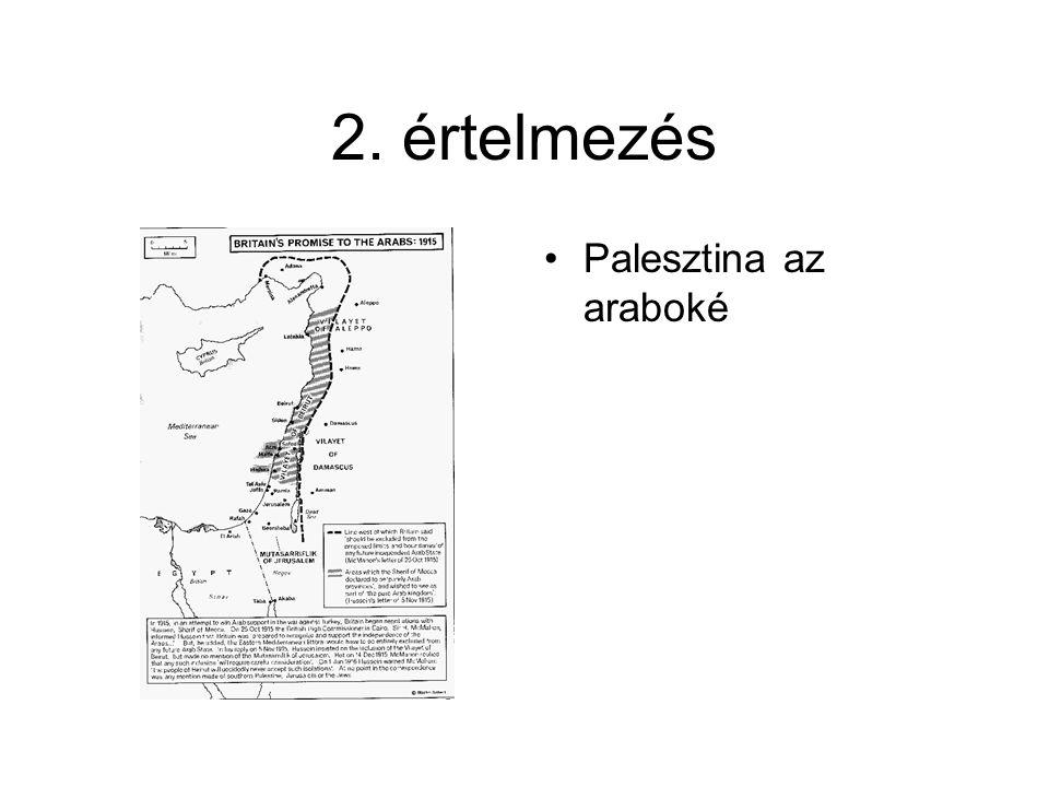 2. értelmezés Palesztina az araboké
