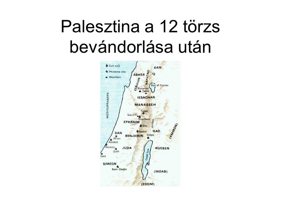 Palesztina a 12 törzs bevándorlása után