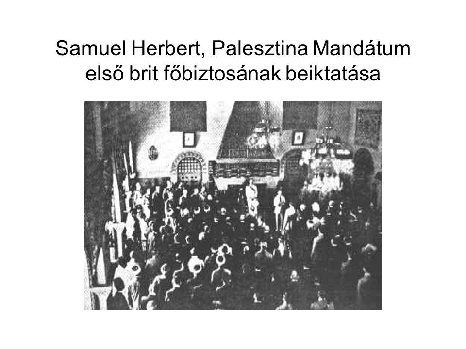Samuel Herbert, Palesztina Mandátum első brit főbiztosának beiktatása