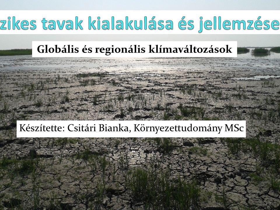 Készítette: Csitári Bianka, Környezettudomány MSc Globális és regionális klímaváltozások