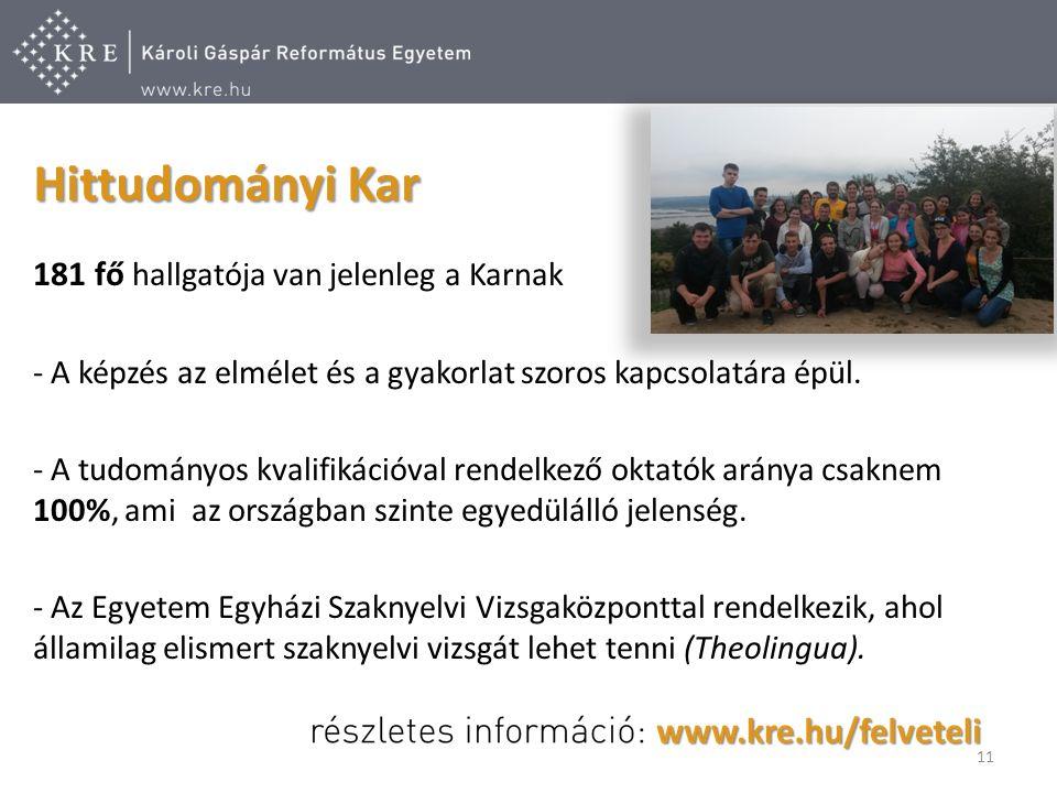 181 fő hallgatója van jelenleg a Karnak - A képzés az elmélet és a gyakorlat szoros kapcsolatára épül.