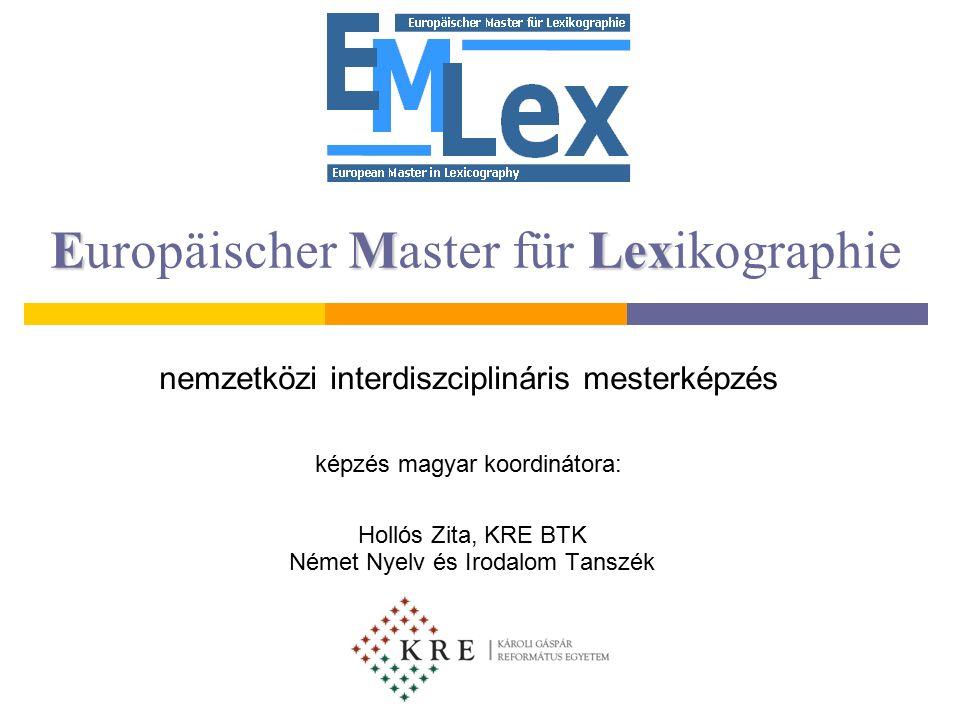 Tartalom  Mi az EMLex. Mi az EMLex célja.  Mely egyetemek a résztvevők.