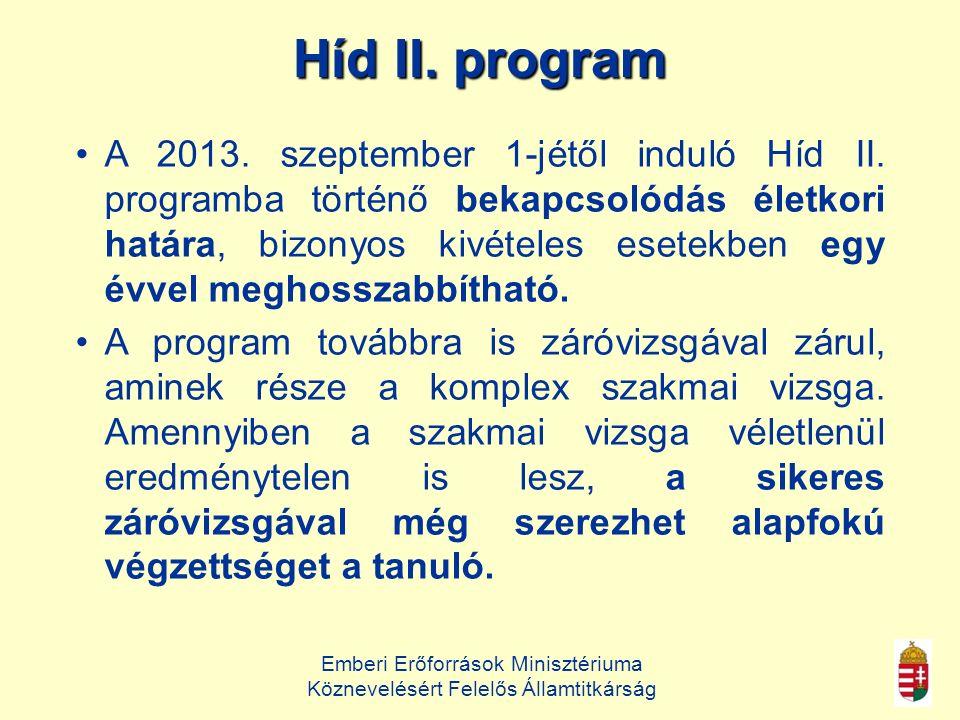 Emberi Erőforrások Minisztériuma Köznevelésért Felelős Államtitkárság Híd II.