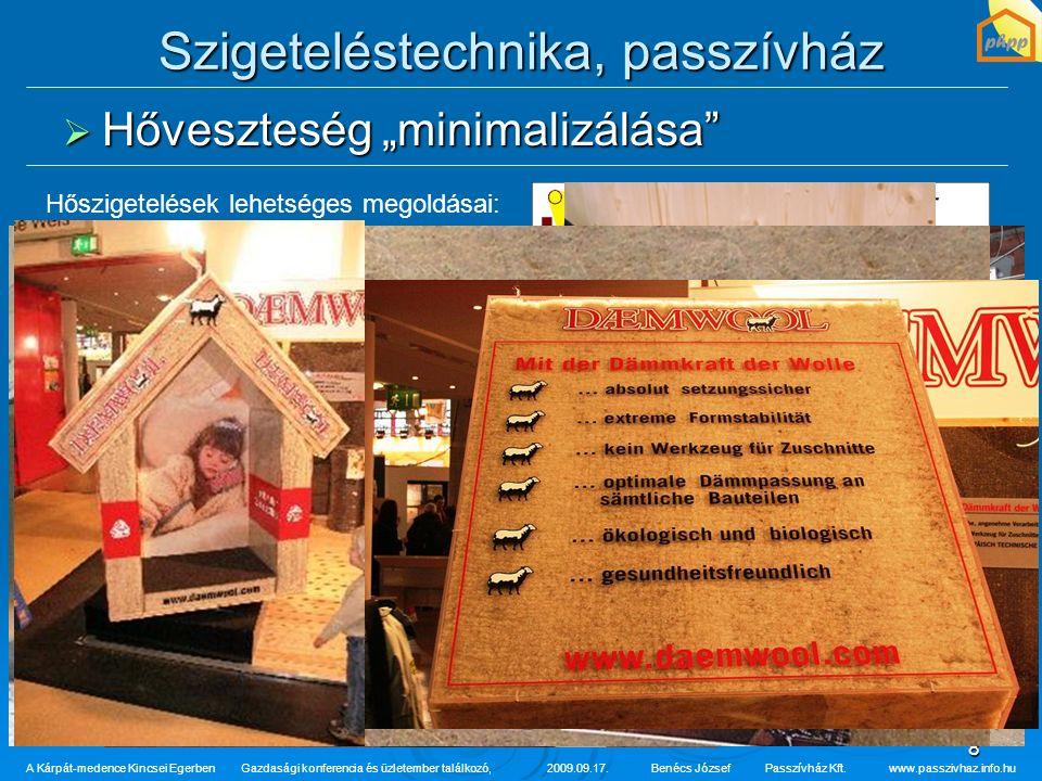 """8 Szigeteléstechnika, passzívház  Hőveszteség """"minimalizálása"""" A Kárpát-medence Kincsei Egerben Gazdasági konferencia és üzletember találkozó,2009.09"""