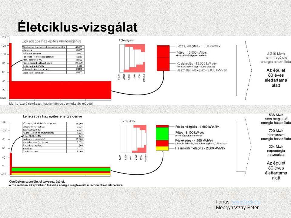 Forrás: www.foek.huwww.foek.hu Medgyasszay Péter Életciklus-vizsgálat
