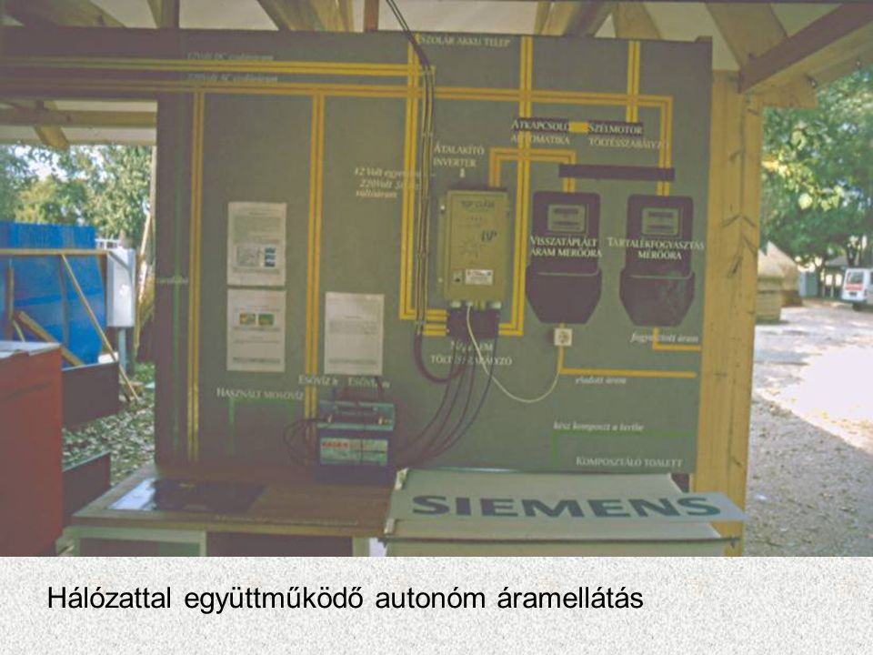 Hálózattal együttműködő autonóm áramellátás