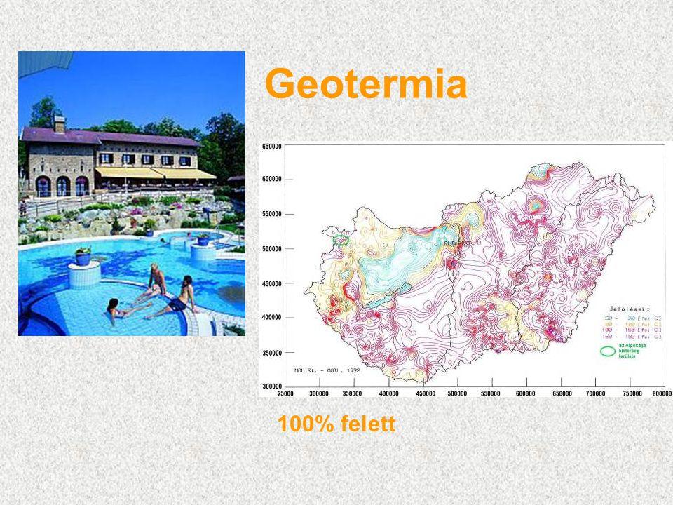 Geotermia 100% felett
