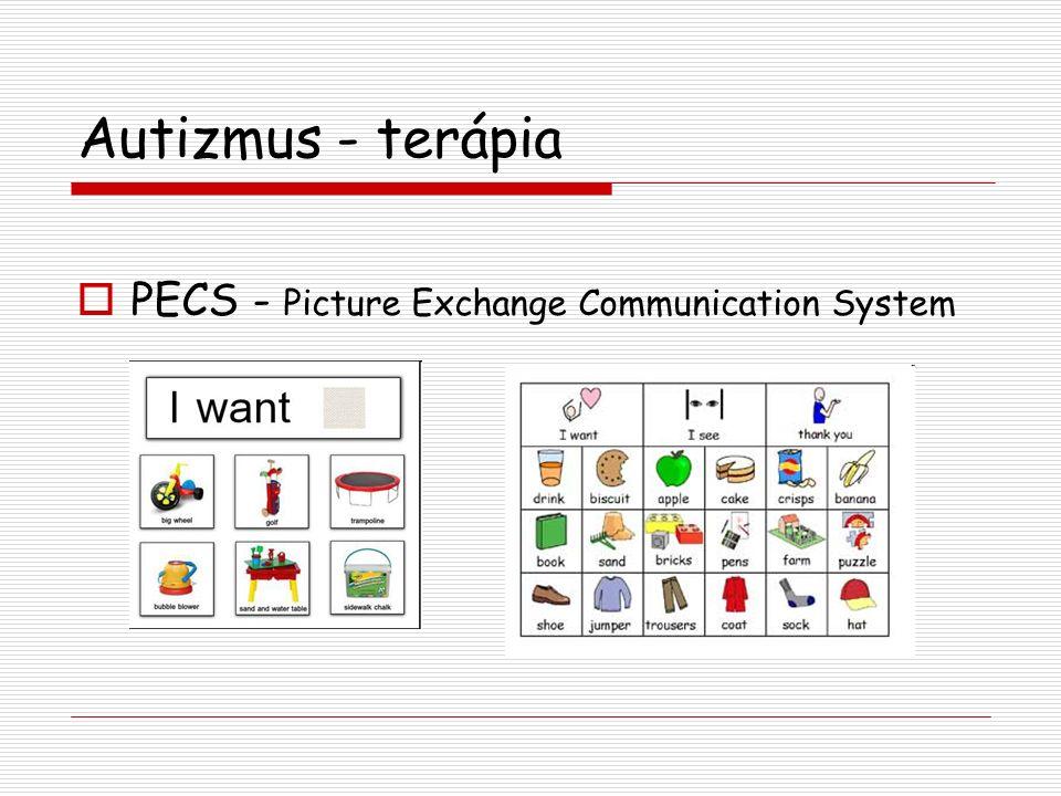 Autizmus - terápia  PECS - Picture Exchange Communication System