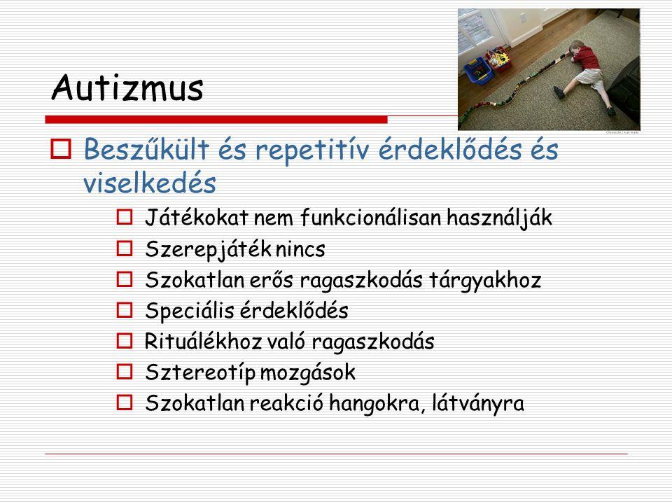 Tourette szindróma - Terápia  Tiaprid (Tiapridal®) Szelektív D2-blokád Hivatalosan is adható 6 éves kor felett  Risperidone 5HT2 és D2-hez kötődik 1-8mg/nap Értelmi fogyatékosságban viselkedészavarra adható Súlynövekedés, szedatív hatás  Aripiprasol Előzetes eredmények jók