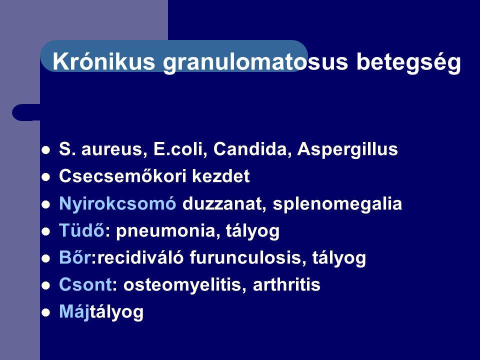 Krónikus granulomatosus betegség S.