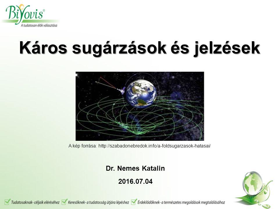 Káros sugárzások és jelzések Káros sugárzások és jelzések A kép forrása: http://szabadonebredok.info/a-foldsugarzasok-hatasai/ Dr.