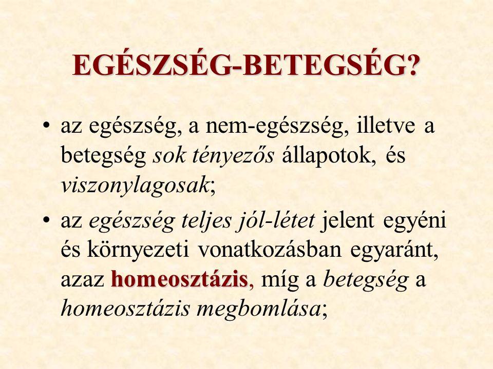 EGÉSZSÉG-BETEGSÉG.