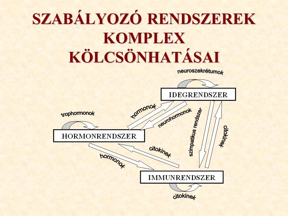 SZABÁLYOZÓ RENDSZEREK KOMPLEX KÖLCSÖNHATÁSAI