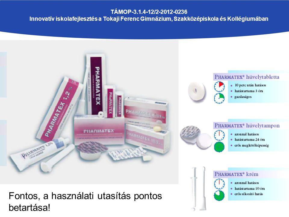 TÁMOP-3.1.4-12/2-2012-0236 Innovatív iskolafejlesztés a Tokaji Ferenc Gimnázium, Szakközépiskola és Kollégiumában Fontos, a használati utasítás pontos betartása!