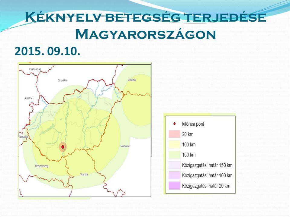 2015. 09.10. Kéknyelv betegség terjedése Magyarországon
