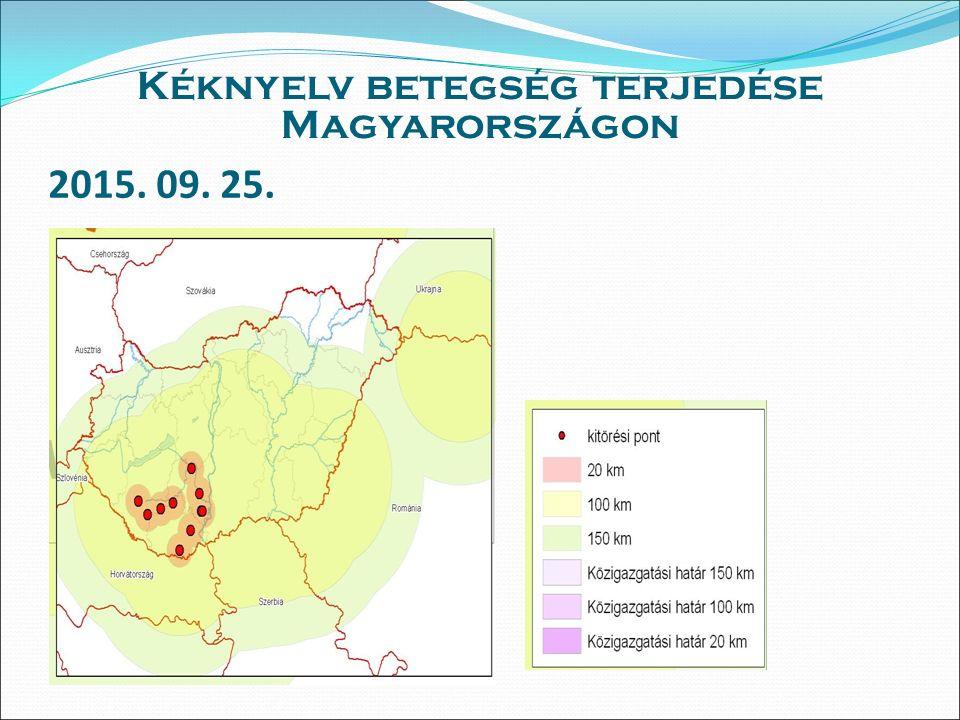 2015. 09. 25. Kéknyelv betegség terjedése Magyarországon