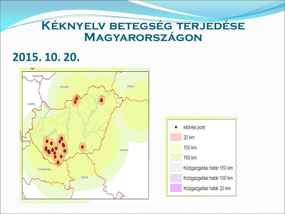 2015. 10. 20. Kéknyelv betegség terjedése Magyarországon
