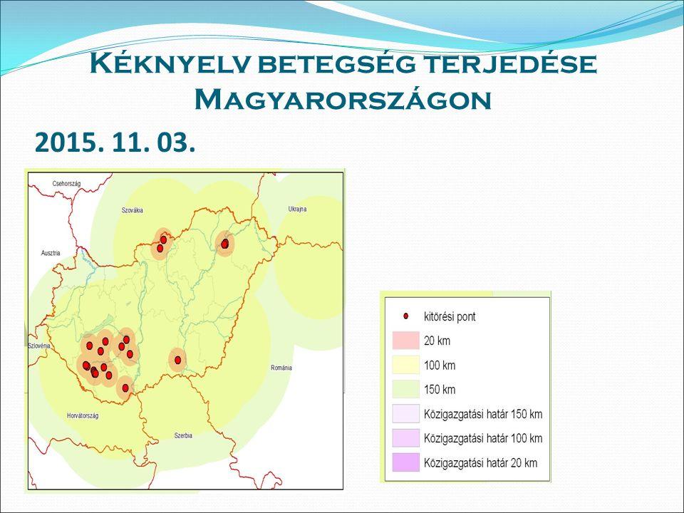 2015. 11. 03. Kéknyelv betegség terjedése Magyarországon