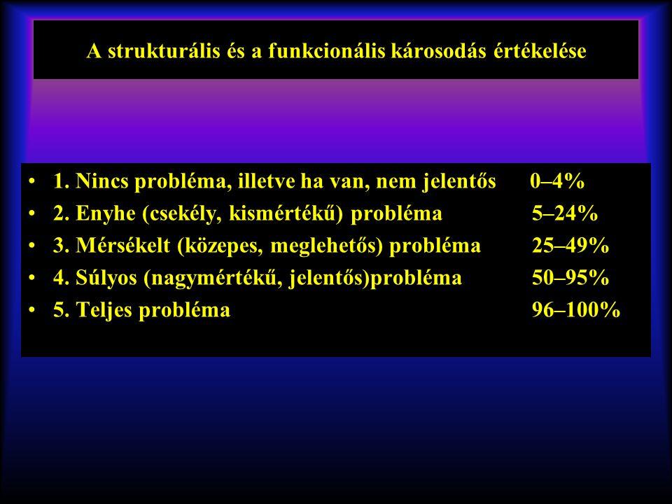 A strukturális és a funkcionális károsodás értékelése 1.
