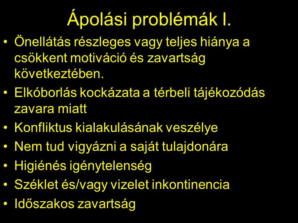 Ápolási problémák I.