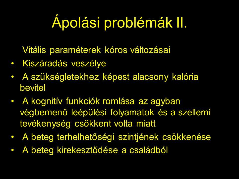 Ápolási problémák II.