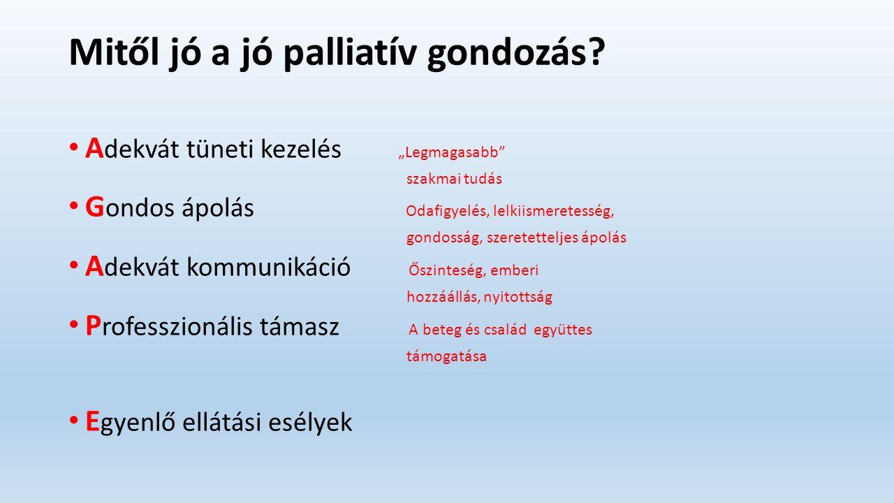Mitől jó a jó palliatív gondozás.