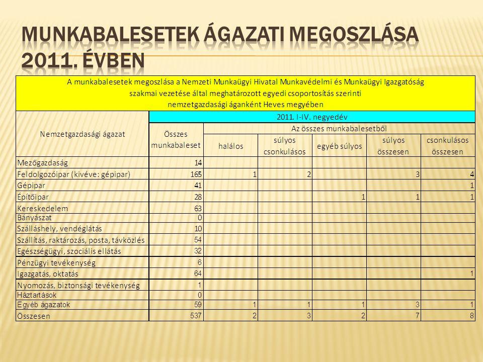Munkavédelmi közérdekű- és panaszbejelentések 2012.01.01.