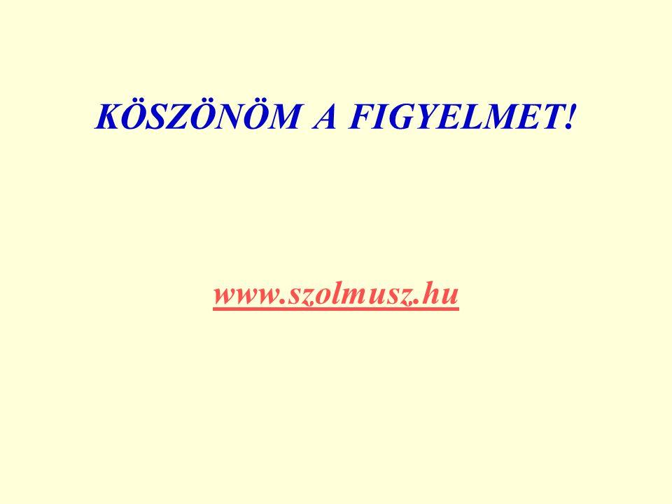 KÖSZÖNÖM A FIGYELMET! www.szolmusz.hu www.szolmusz.hu