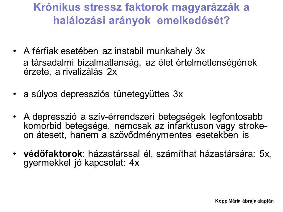 Krónikus stressz faktorok magyarázzák a halálozási arányok emelkedését.