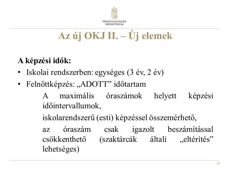 19 Az új OKJ II.