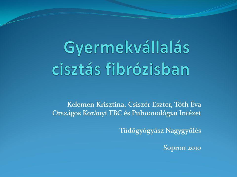 Kelemen Krisztina, Csiszér Eszter, Tóth Éva Országos Korányi TBC és Pulmonológiai Intézet Tüdőgyógyász Nagygyűlés Sopron 2010