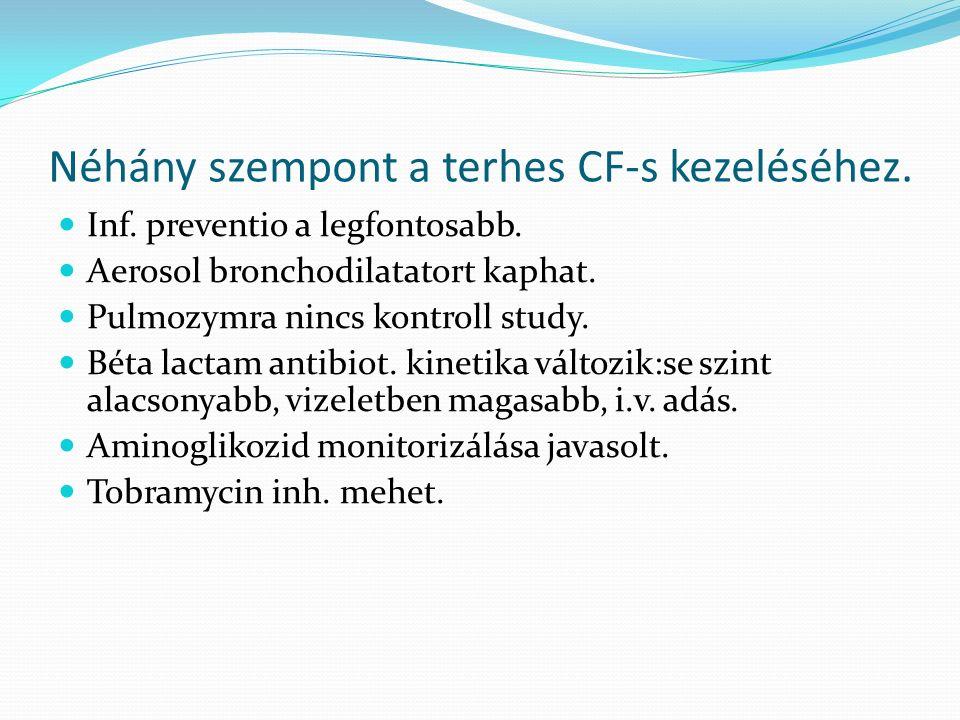 Néhány szempont a terhes CF-s kezeléséhez. Inf. preventio a legfontosabb.