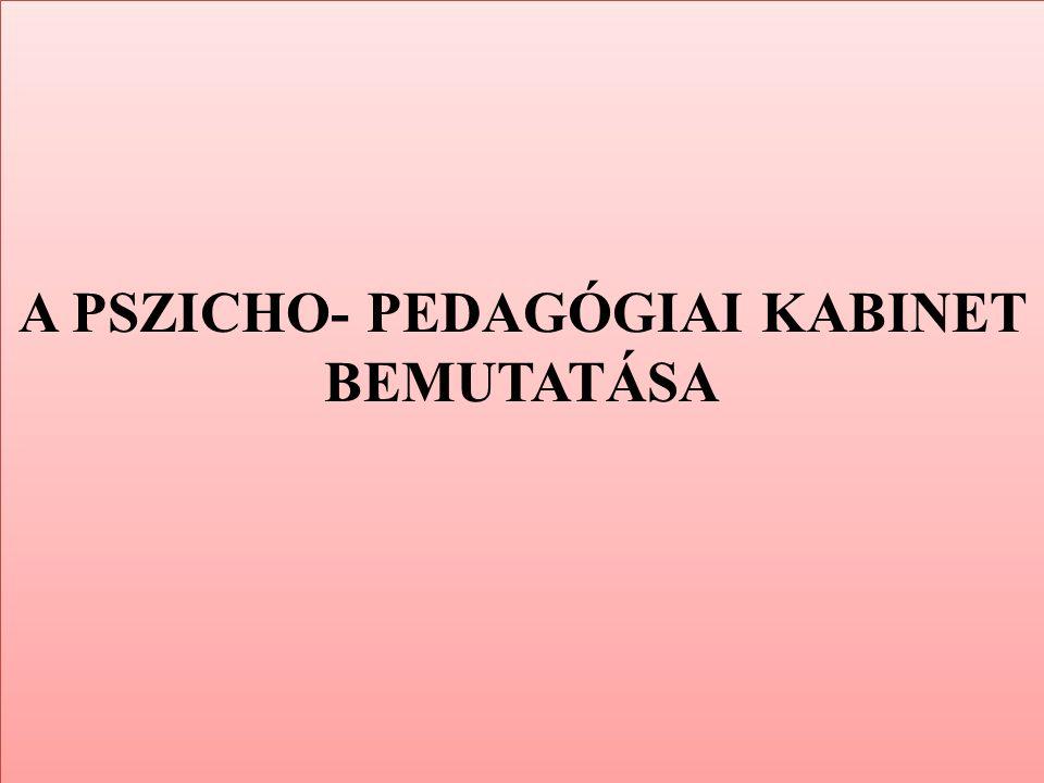 A PSZICHO- PEDAGÓGIAI KABINET BEMUTATÁSA