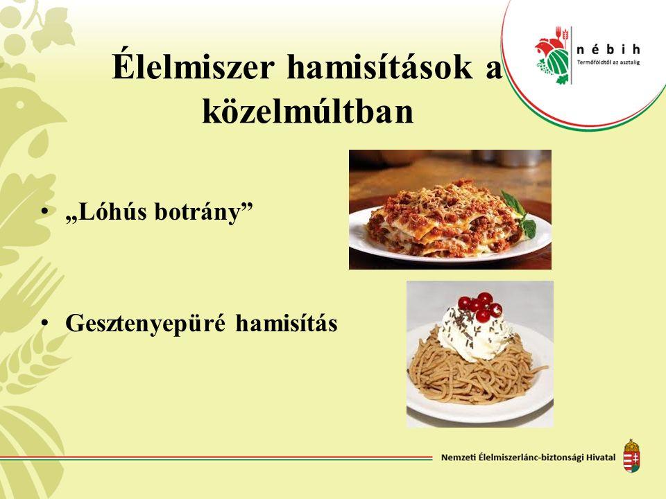 """Élelmiszer hamisítások a közelmúltban """"Lóhús botrány"""" Gesztenyepüré hamisítás"""