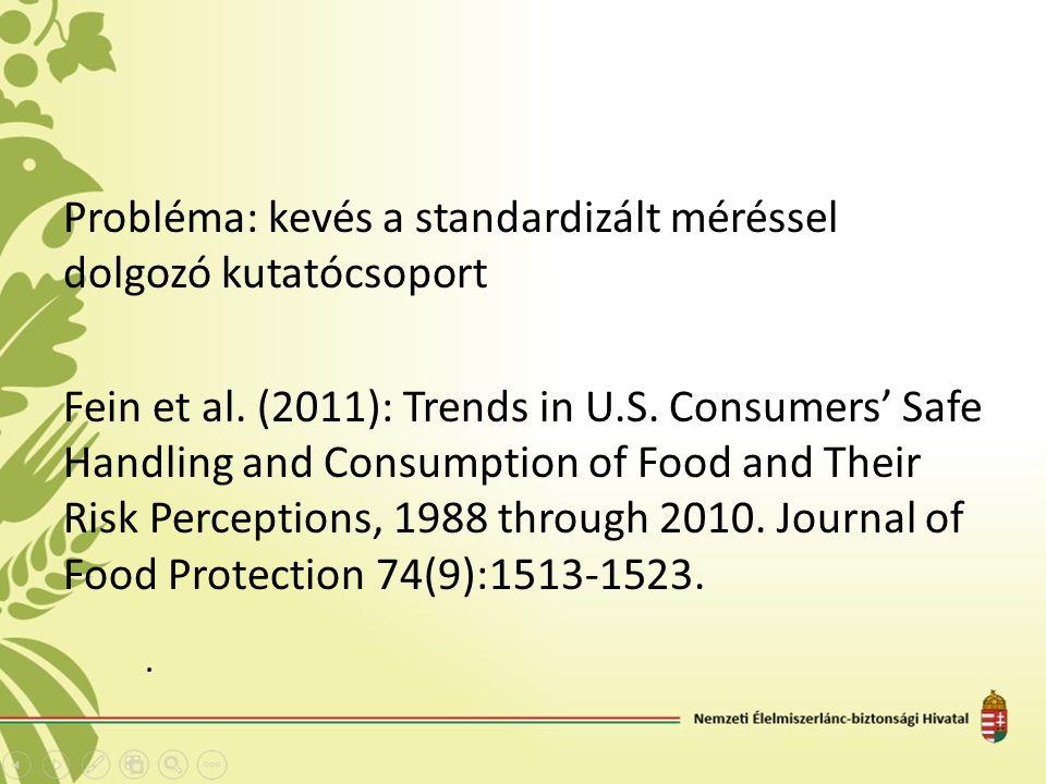 Probléma: kevés a standardizált méréssel dolgozó kutatócsoport Fein et al.