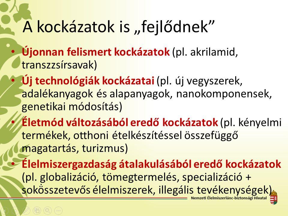 """A kockázatok is """"fejlődnek Újonnan felismert kockázatok (pl."""