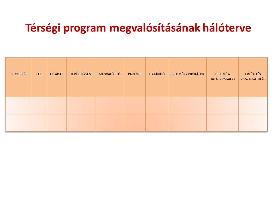 Térségi program megvalósításának hálóterve