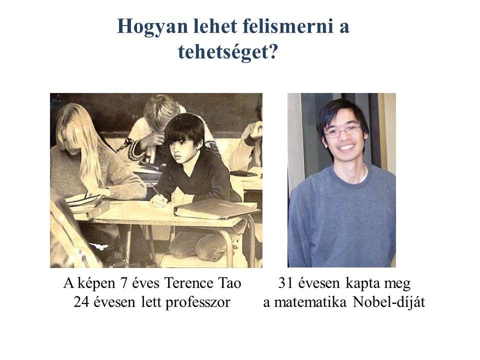 A képen 7 éves Terence Tao 24 évesen lett professzor 31 évesen kapta meg a matematika Nobel-díját Hogyan lehet felismerni a tehetséget
