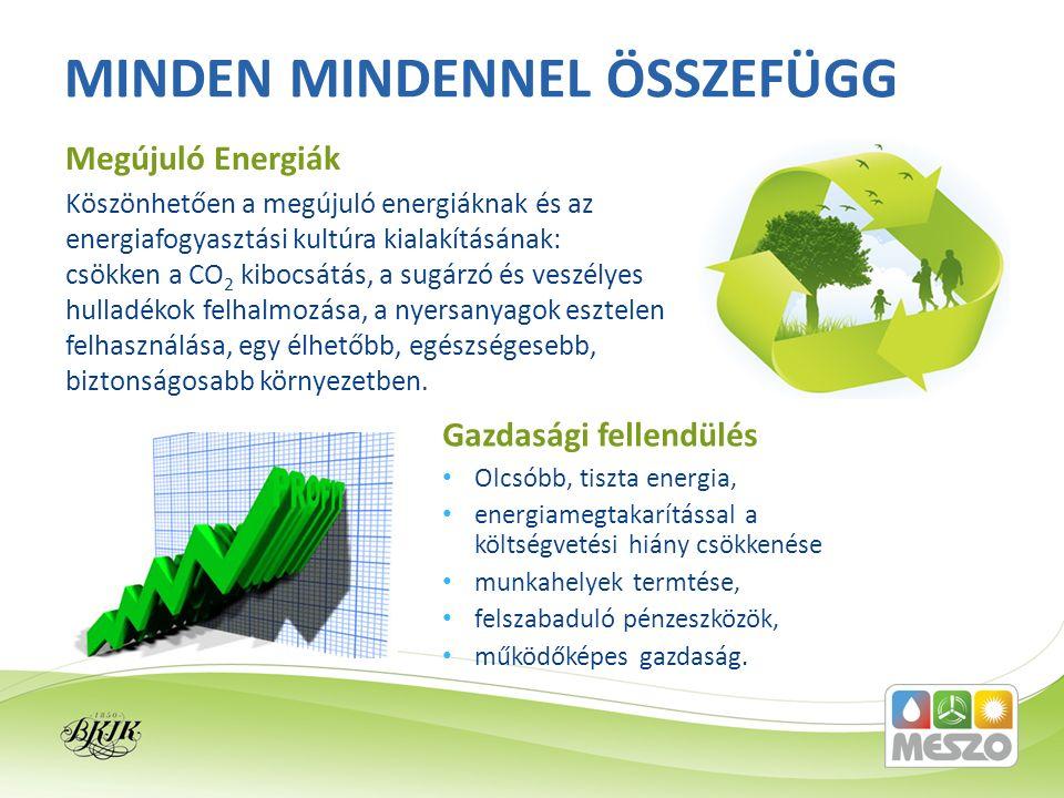 Köszönhetően a megújuló energiáknak és az energiafogyasztási kultúra kialakításának: csökken a CO 2 kibocsátás, a sugárzó és veszélyes hulladékok felhalmozása, a nyersanyagok esztelen felhasználása, egy élhetőbb, egészségesebb, biztonságosabb környezetben.