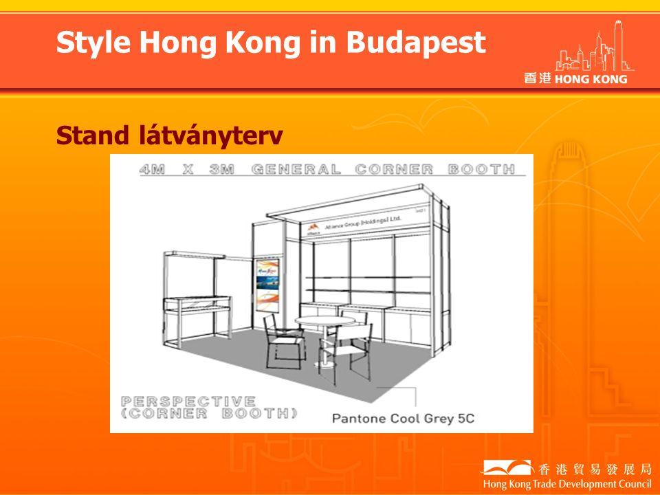 Style Hong Kong in Budapest Stand látványterv