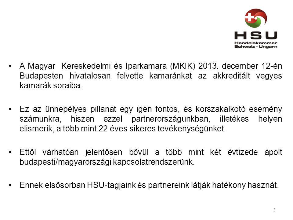 A Magyar Kereskedelmi és Iparkamara (MKIK) 2013.