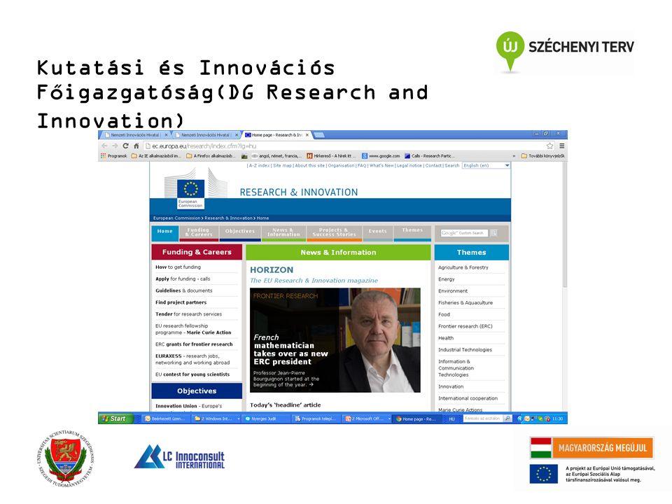Kutatási és Innovációs Főigazgatóság(DG Research and Innovation)