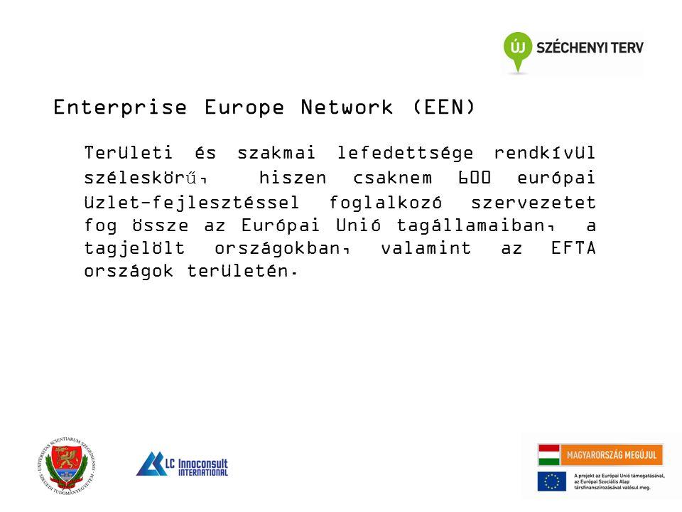Területi és szakmai lefedettsége rendkívül széleskörű, hiszen csaknem 600 európai üzlet-fejlesztéssel foglalkozó szervezetet fog össze az Európai Unió