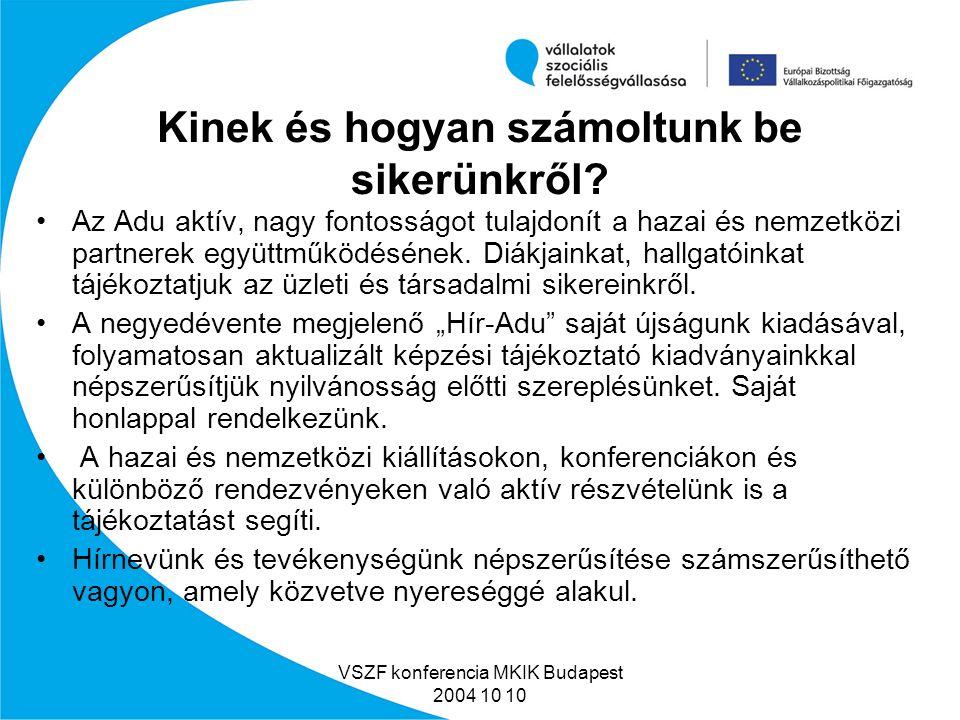VSZF konferencia MKIK Budapest 2004 10 10